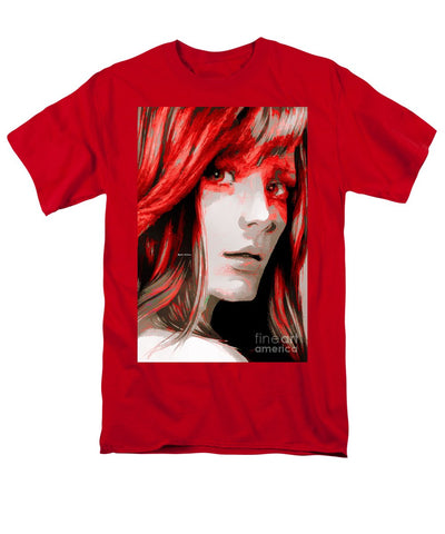 Men's T-Shirt  (Regular Fit) - Female Sketch In Red