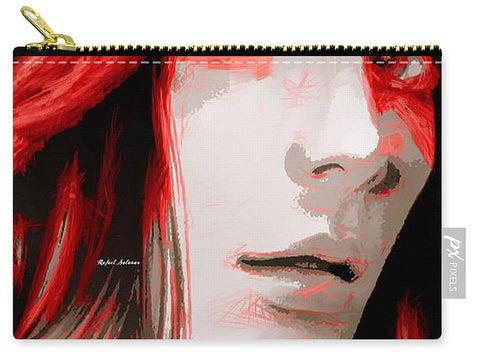 Carry-All Pouch - Female Sketch In Red