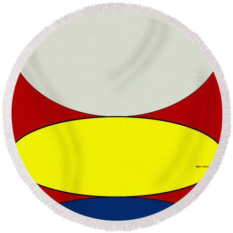 Floating Circles - Round Beach Towel