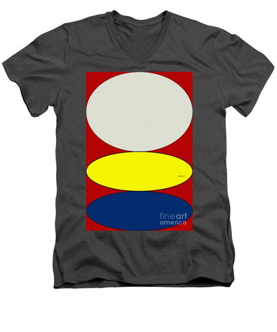 Floating Circles - Men's V-Neck T-Shirt