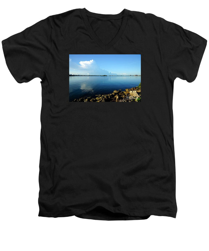 Men's V-Neck T-Shirt - Florida Panorama