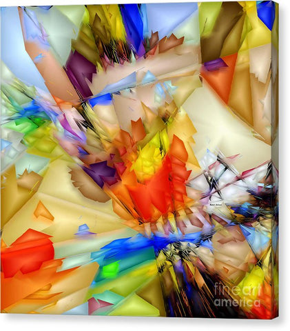Fragment Of Crying Abstraction - Canvas Print