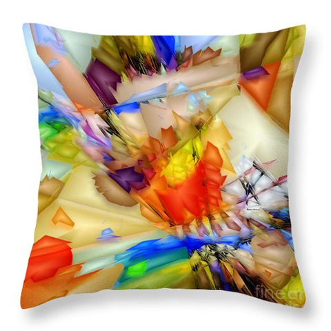 Fragment Of Crying Abstraction - Throw Pillow
