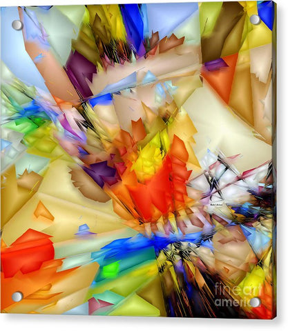Fragment Of Crying Abstraction - Acrylic Print