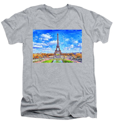 France - Russia World Cup Champions 2018 - Men's V-Neck T-Shirt