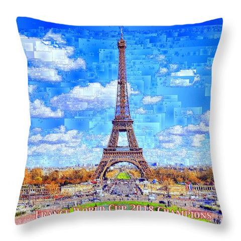 France - Russia World Cup Champions 2018 - Throw Pillow