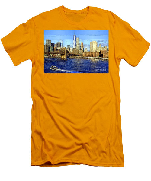 Men's T-Shirt (Slim Fit) - Freedom Tower In New York City