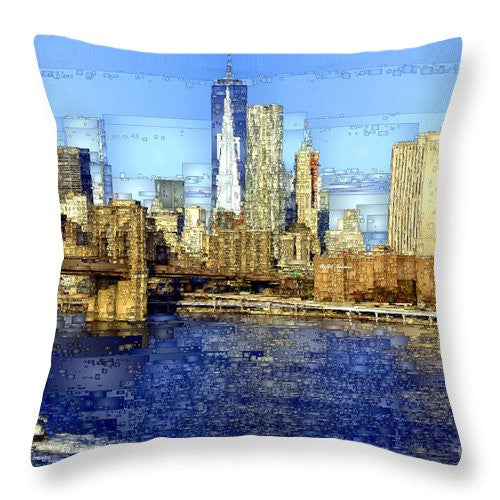 Throw Pillow - Freedom Tower In New York City