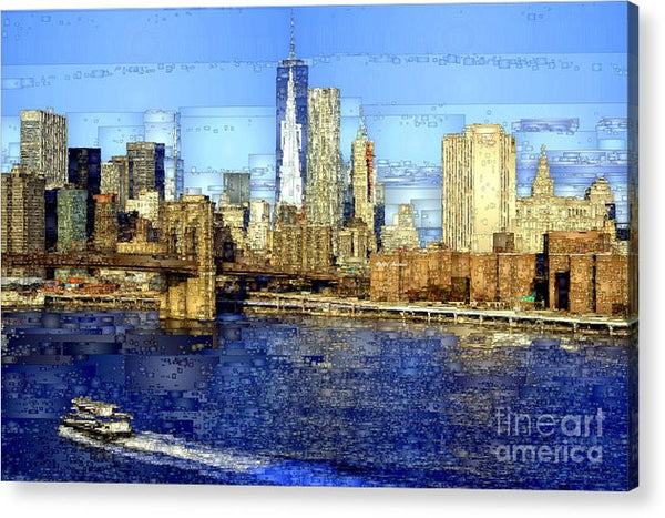 Acrylic Print - Freedom Tower In New York City