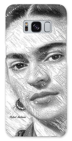 Frida Drawing In Black And White - Phone Case