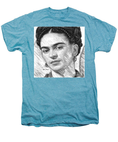 Frida Drawing In Black And White - Men's Premium T-Shirt