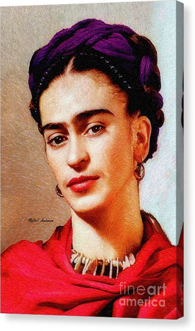 Frida In Red - Canvas Print
