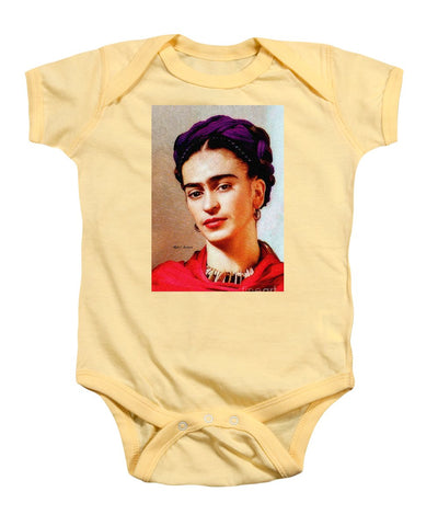 Frida In Red - Baby Onesie