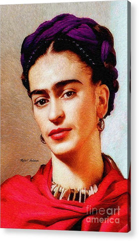 Frida In Red - Acrylic Print