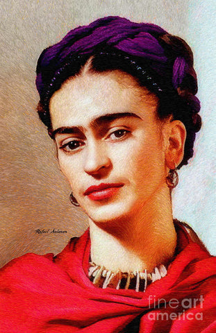 Frida In Red - Art Print