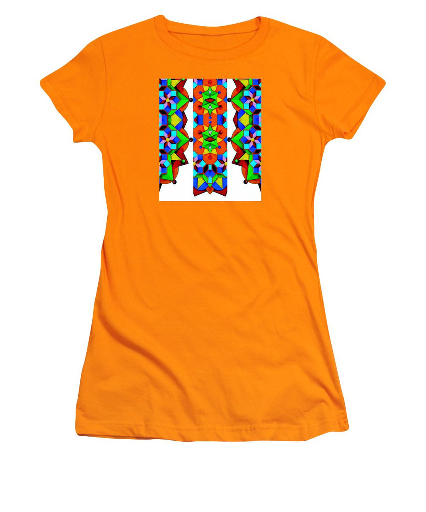 Women's T-Shirt (Junior Cut) - Geometric 9741a