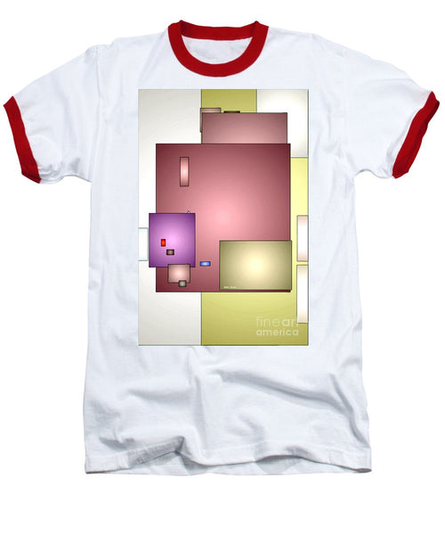 Baseball T-Shirt - Geometric Abstract 0790_54