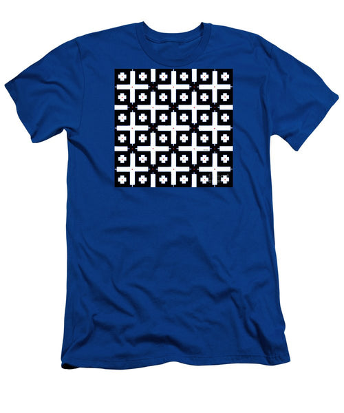 Men's T-Shirt (Slim Fit) - Geometric In Black And White