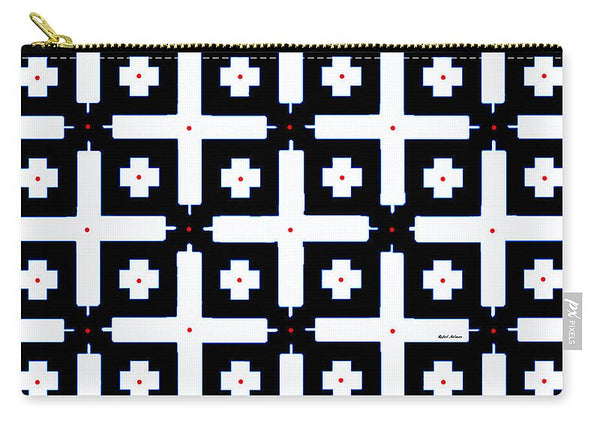 Carry-All Pouch - Geometric In Black And White