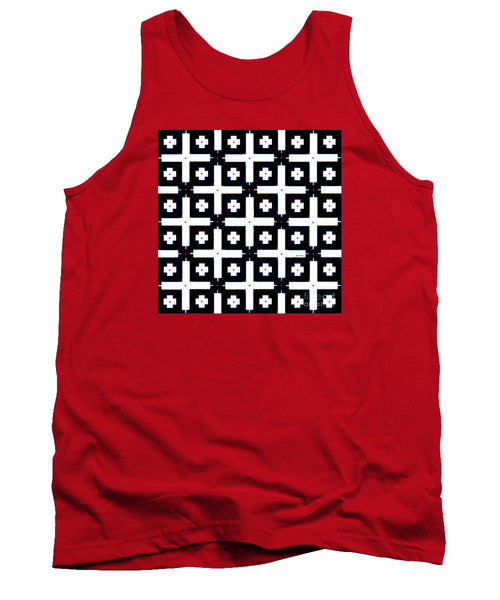 Tank Top - Geometric In Black And White