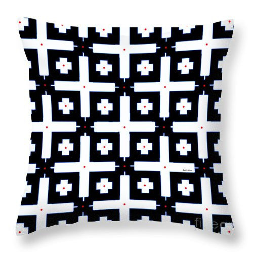 Throw Pillow - Geometric In Black And White