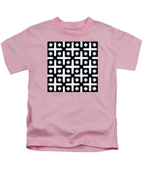 Kids T-Shirt - Geometric In Black And White