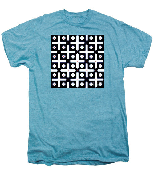 Men's Premium T-Shirt - Geometric In Black And White