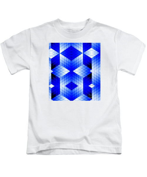 Kids T-Shirt - Geometric In Blue