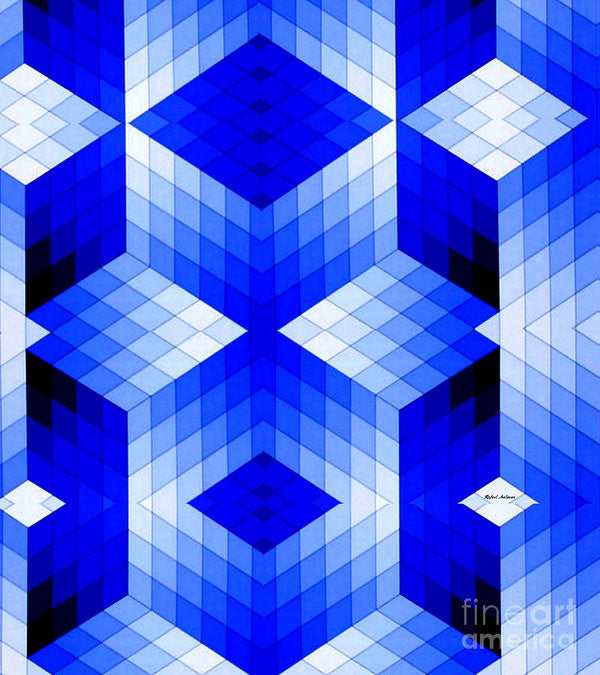 Art Print - Geometric In Blue
