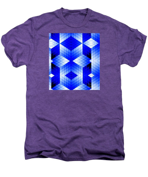 Men's Premium T-Shirt - Geometric In Blue