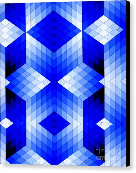 Canvas Print - Geometric In Blue