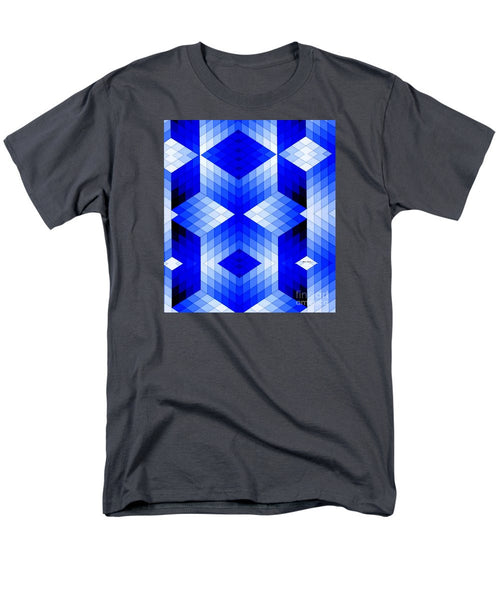 Men's T-Shirt  (Regular Fit) - Geometric In Blue