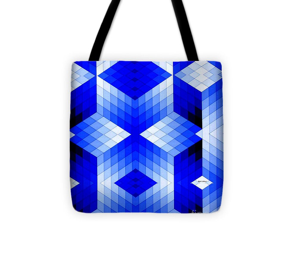 Tote Bag - Geometric In Blue