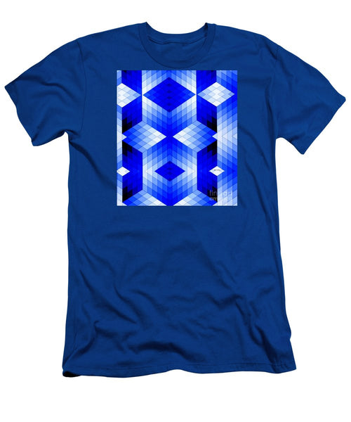 Men's T-Shirt (Slim Fit) - Geometric In Blue