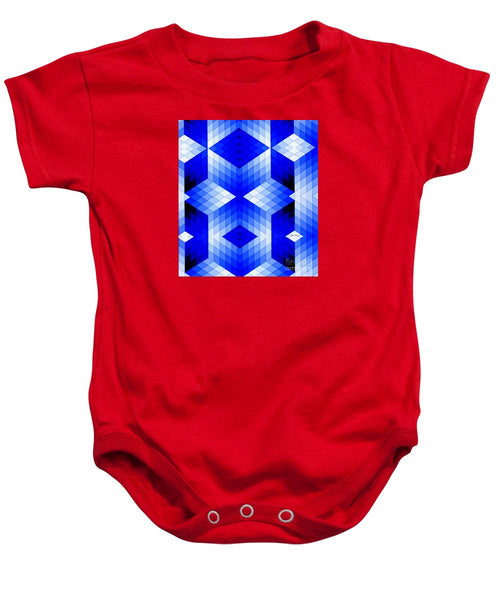 Baby Onesie - Geometric In Blue