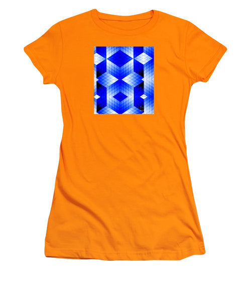 Women's T-Shirt (Junior Cut) - Geometric In Blue