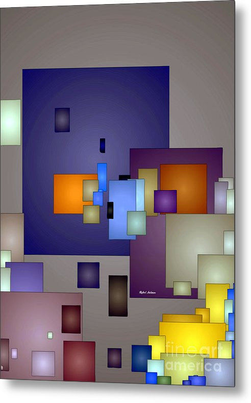 Metal Print - Geometric Nightlife