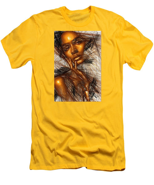 Men's T-Shirt (Slim Fit) - Gold Fingers
