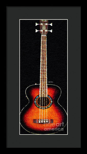 Framed Print - Guitar 0818