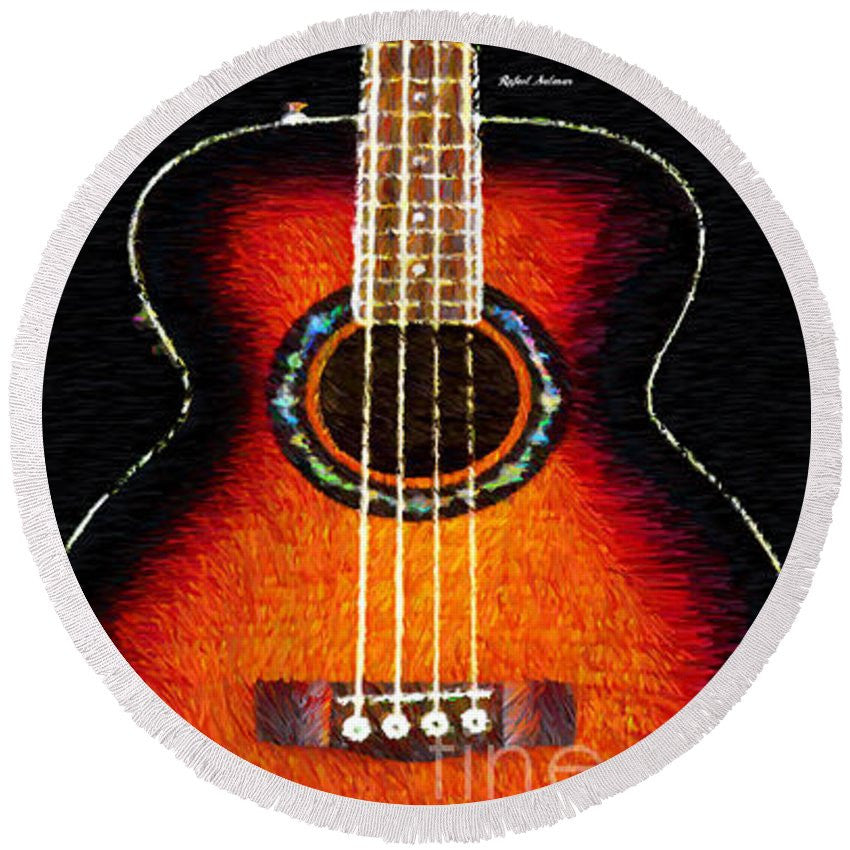 Round Beach Towel - Guitar 0818