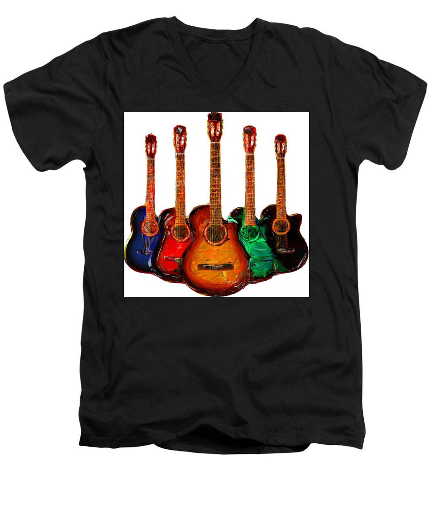 Men's V-Neck T-Shirt - Guitar Collection