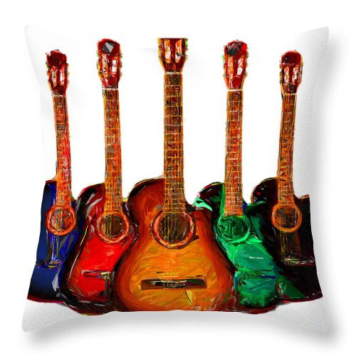Throw Pillow - Guitar Collection