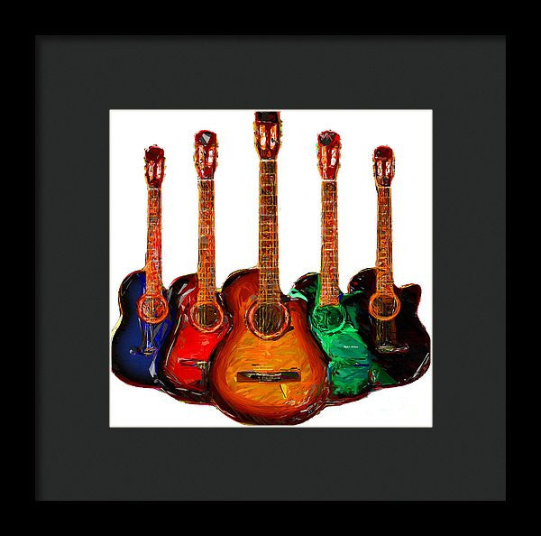 Framed Print - Guitar Collection