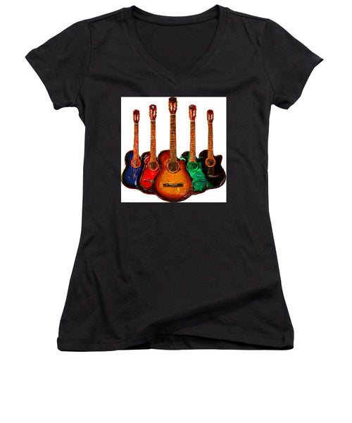 Women's V-Neck T-Shirt (Junior Cut) - Guitar Collection