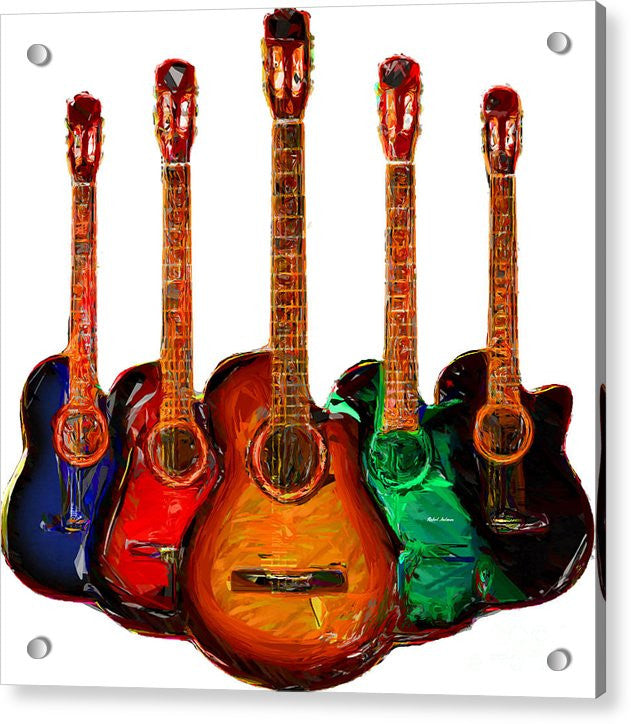Acrylic Print - Guitar Collection