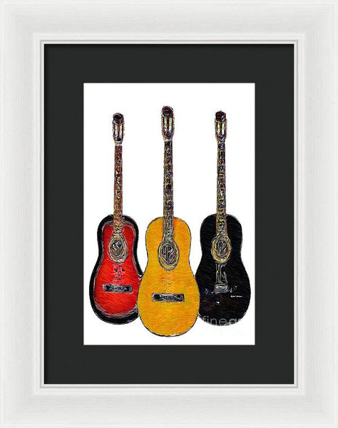 Framed Print - Guitar Trio