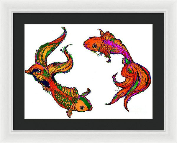 Framed Print - Happiness. Pet Series