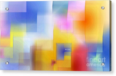 Acrylic Print - Happy Pattern
