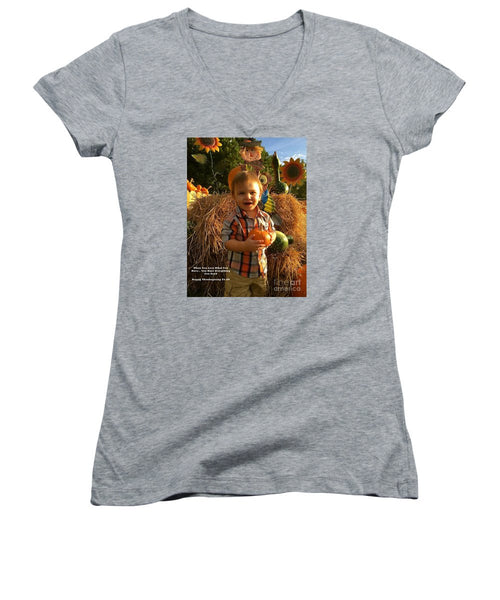 Women's V-Neck T-Shirt (Junior Cut) - Happy Thanksgiving To All