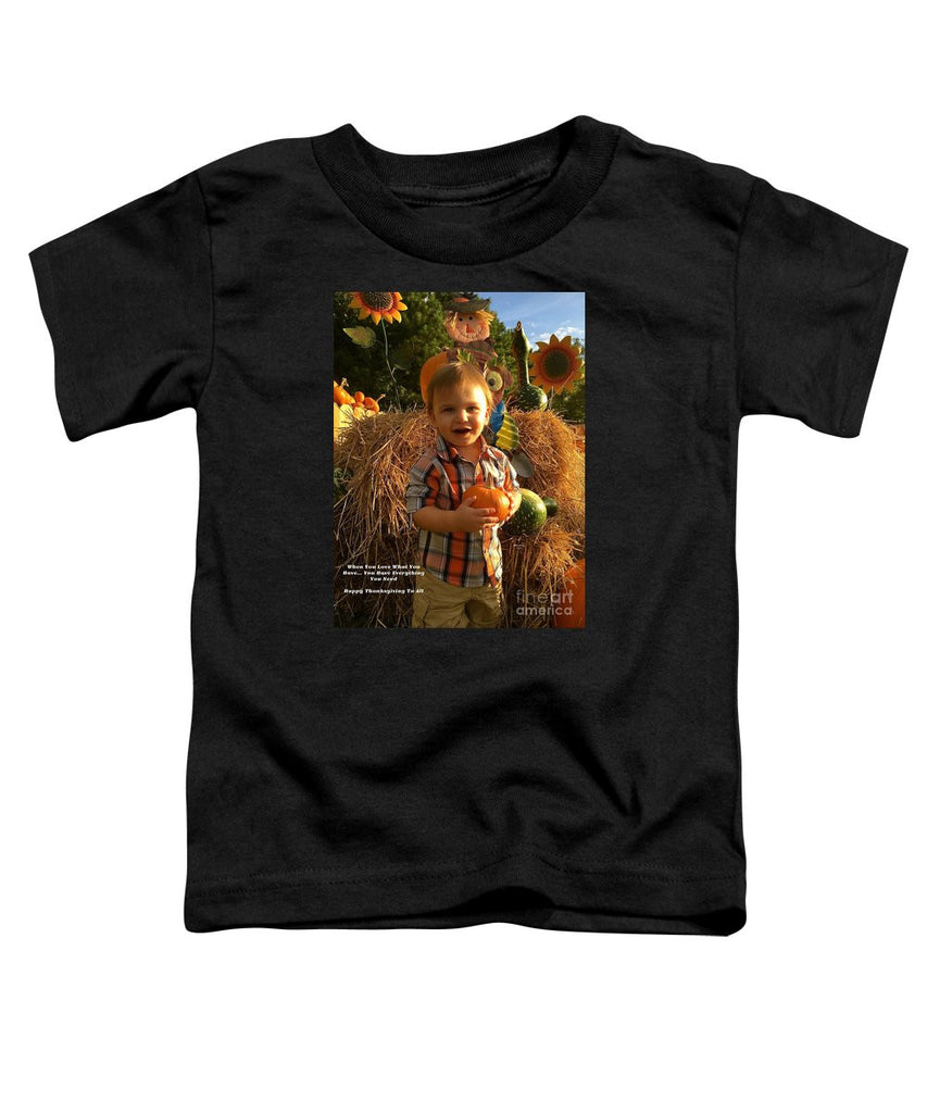 Toddler T-Shirt - Happy Thanksgiving To All